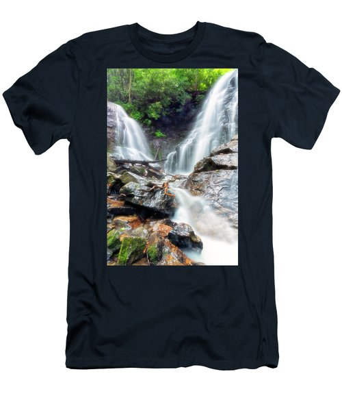 Waterfall Silence Men's T-Shirt (Athletic Fit)