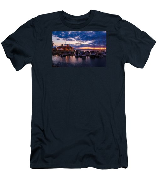 Waterfront Summer Sunset Men's T-Shirt (Athletic Fit)