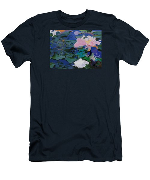 Waterlilies Six Men's T-Shirt (Slim Fit) by David Klaboe