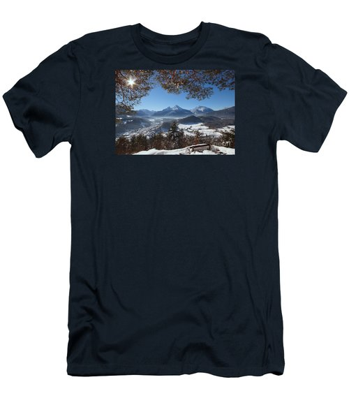 Watzmann Panorama 1 Men's T-Shirt (Slim Fit) by Rudi Prott