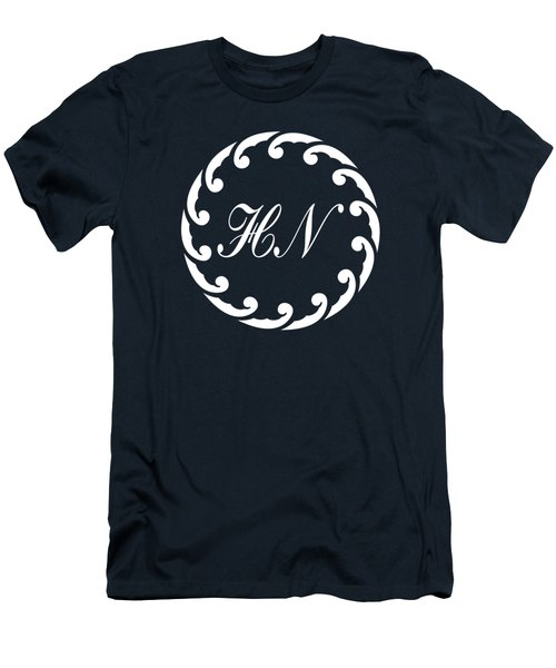 Wave Ring And Cipher In White Men's T-Shirt (Athletic Fit)