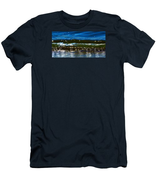 Men's T-Shirt (Slim Fit) featuring the photograph Waves Water Light 2  by Lyle Crump