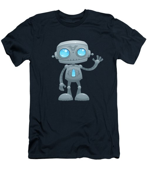 Waving Robot Men's T-Shirt (Athletic Fit)