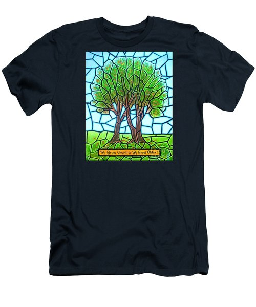 We Grow Closer As We Grow Older Men's T-Shirt (Slim Fit) by Jim Harris