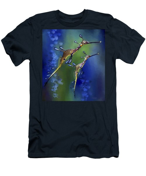 Men's T-Shirt (Slim Fit) featuring the digital art Weedy Sea Dragon by Thanh Thuy Nguyen
