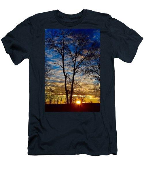 Weekend Sunrise In Minnesota Men's T-Shirt (Slim Fit) by Dacia Doroff