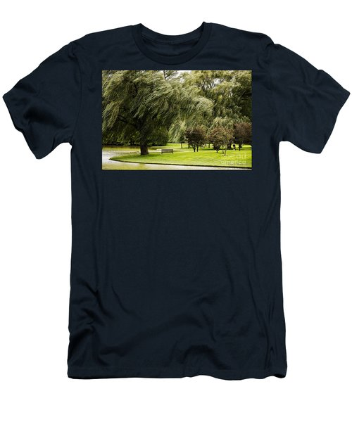 Weeping Willow Trees On Windy Day Men's T-Shirt (Athletic Fit)