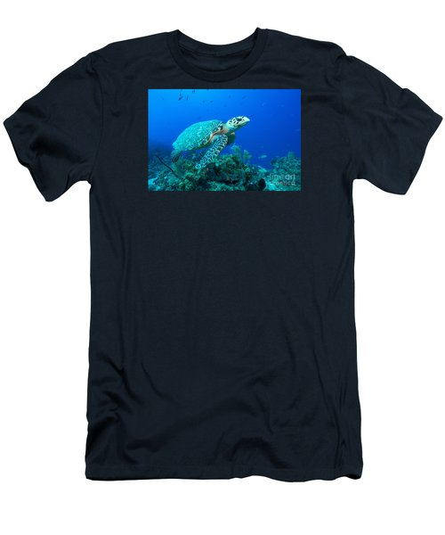 Men's T-Shirt (Slim Fit) featuring the photograph West Caicos Traveler by Aaron Whittemore