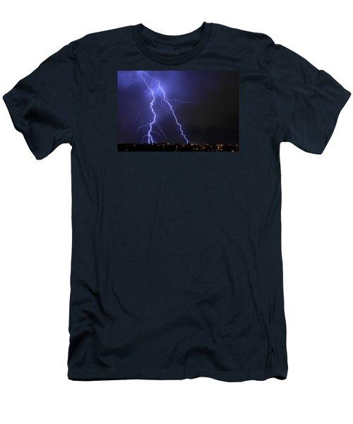 West Jordan Lightning 1 Men's T-Shirt (Slim Fit) by Paul Marto