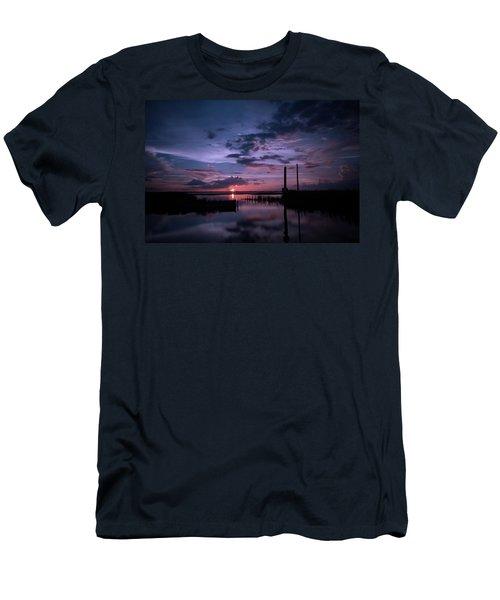 West Lake Toho Blu Indigo Sunset Men's T-Shirt (Athletic Fit)