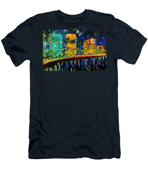 West Palm At Night Men's T-Shirt (Athletic Fit)