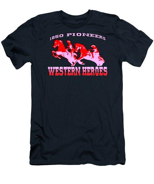 Western Heroes 1850 Pioneers - Tshirt Design Men's T-Shirt (Athletic Fit)