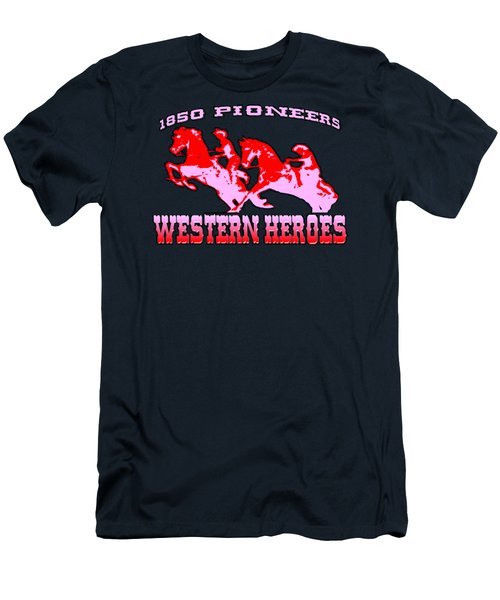Western Heroes 1850 Pioneers - Tshirt Design Men's T-Shirt (Athletic Fit)