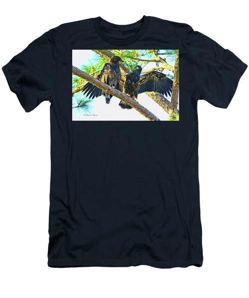 Men's T-Shirt (Slim Fit) featuring the photograph What Shall I Say by Deborah Benoit