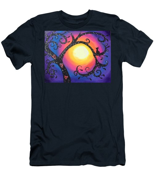 Whimsical Tree At Sunset Men's T-Shirt (Slim Fit) by Diana Riukas