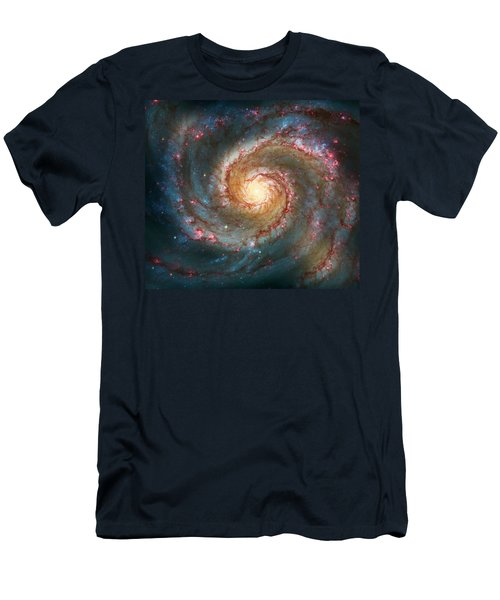 Whirlpool Galaxy  Men's T-Shirt (Athletic Fit)