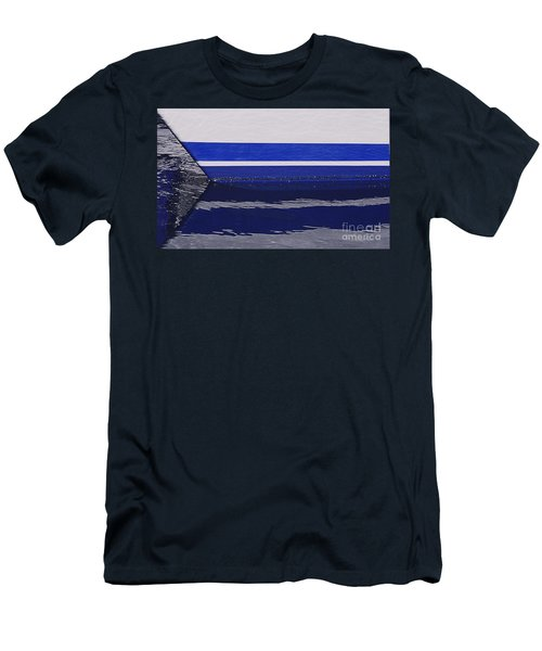 White And Blue Boat Symmetry Men's T-Shirt (Slim Fit) by Danuta Bennett