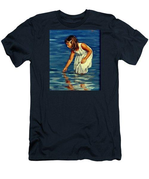 White Dress Men's T-Shirt (Athletic Fit)