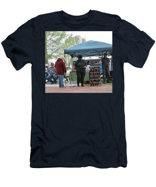 Men's T-Shirt (Slim Fit) featuring the photograph White Ferret Car Show by Jack Pumphrey