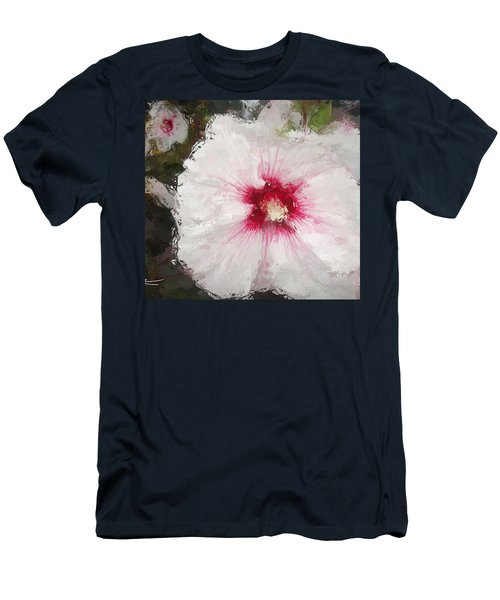 Men's T-Shirt (Athletic Fit) featuring the painting White Flower by Joan Reese