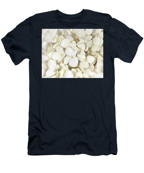 Men's T-Shirt (Athletic Fit) featuring the photograph White Hydrangea by Kerri Farley