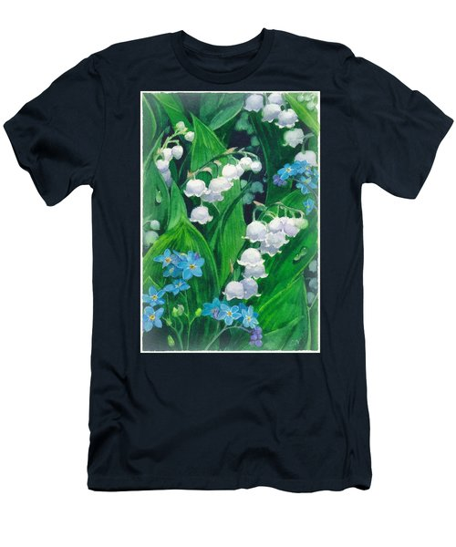White Lilies Of The Valley Men's T-Shirt (Athletic Fit)