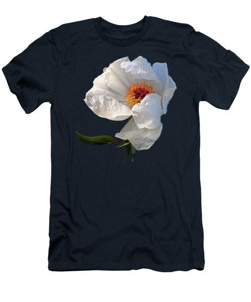 White Peony After The Rain Men's T-Shirt (Slim Fit) by Gill Billington