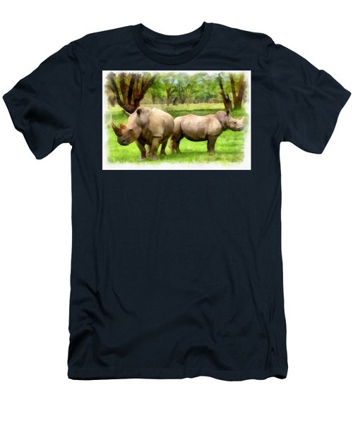 White Rhinos Men's T-Shirt (Athletic Fit)