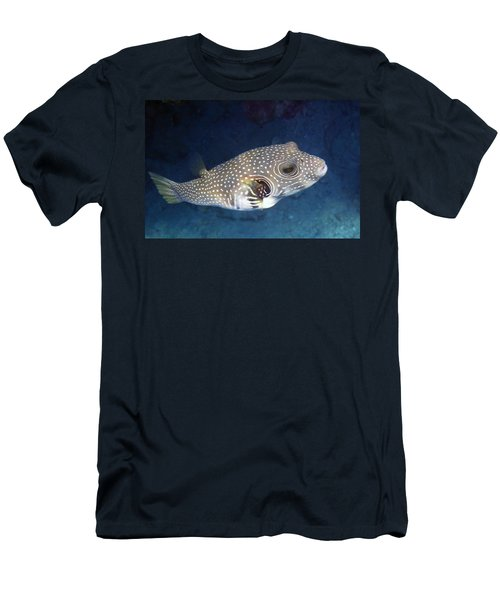Whitespotted Pufferfish Closeup Men's T-Shirt (Athletic Fit)