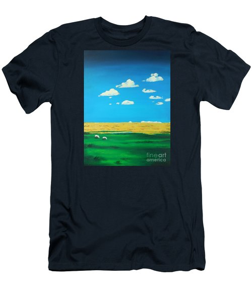 Wide Open Spaces And A Big Blue Sky Men's T-Shirt (Athletic Fit)