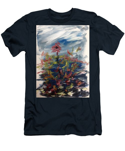 Wild Flowers On An Overcast  Day Men's T-Shirt (Athletic Fit)