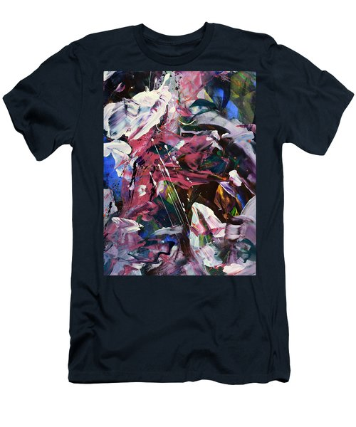 Wild Orchid Abstract Men's T-Shirt (Athletic Fit)