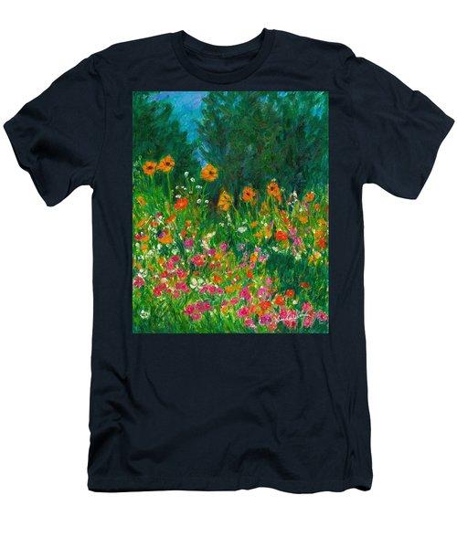 Wildflower Rush Men's T-Shirt (Slim Fit) by Kendall Kessler