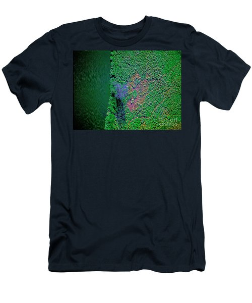 Wind Blown Marsh Tree And Water Men's T-Shirt (Athletic Fit)