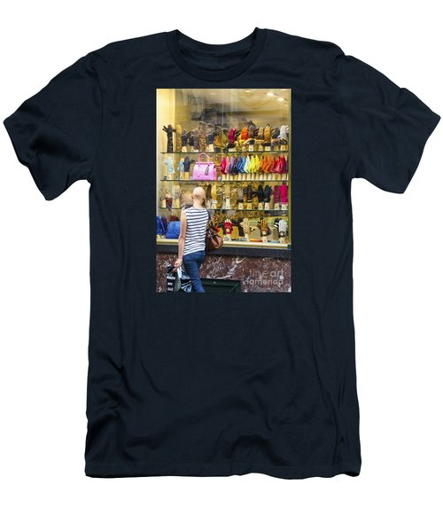 Men's T-Shirt (Slim Fit) featuring the photograph Window Shopper by Pravine Chester