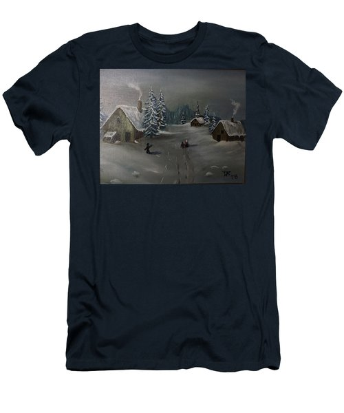 Winter In A German Village Men's T-Shirt (Athletic Fit)
