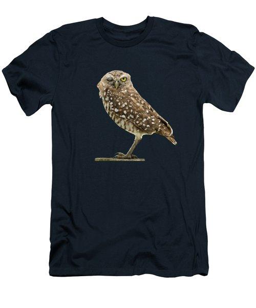 Winking Owl Men's T-Shirt (Slim Fit) by Bradford Martin