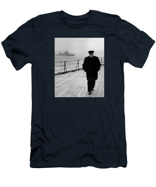 Winston Churchill At Sea Men's T-Shirt (Athletic Fit)