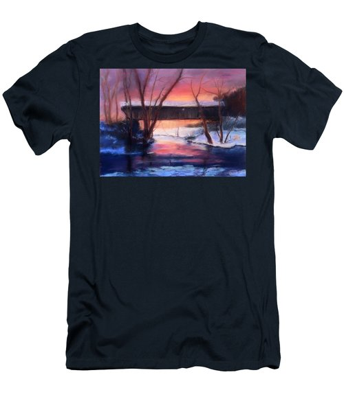 Winter At Bennett's Mill Men's T-Shirt (Slim Fit) by Gail Kirtz