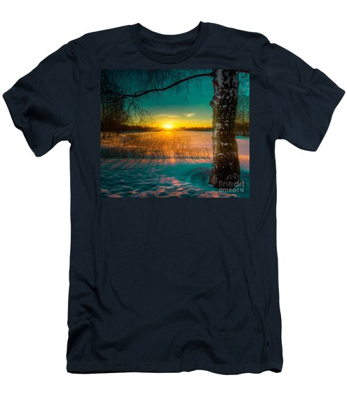 Winter Delight In British Columbia Men's T-Shirt (Slim Fit) by Rod Jellison