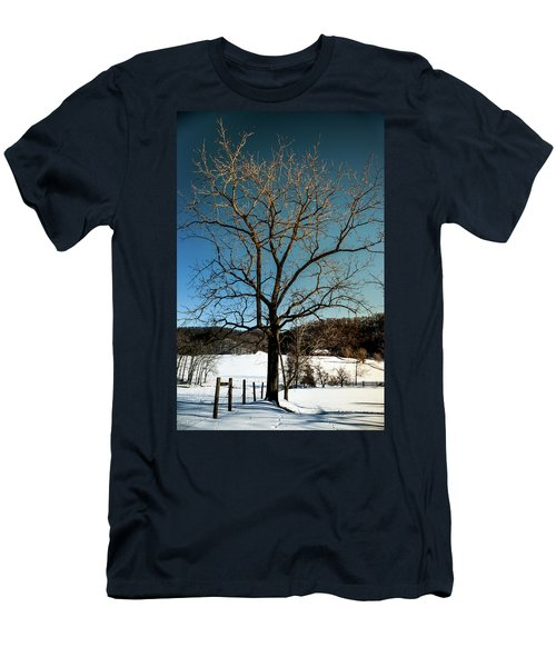 Men's T-Shirt (Slim Fit) featuring the photograph Winter Glow by Karen Wiles