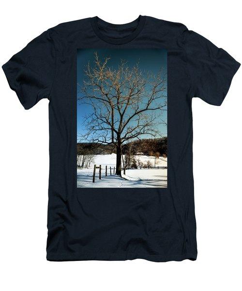 Winter Glow Men's T-Shirt (Slim Fit) by Karen Wiles