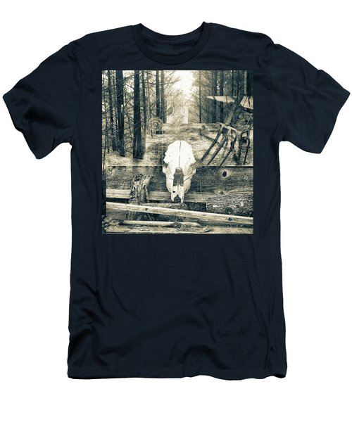 Winter In The In The Woods Men's T-Shirt (Athletic Fit)