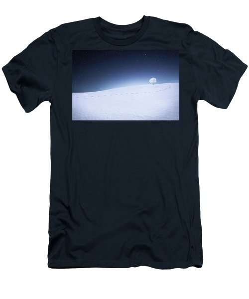 Men's T-Shirt (Slim Fit) featuring the photograph Winter Landscape by Bess Hamiti