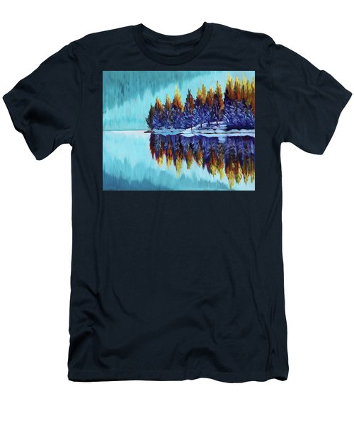 Winter - Mountain Lake Men's T-Shirt (Athletic Fit)
