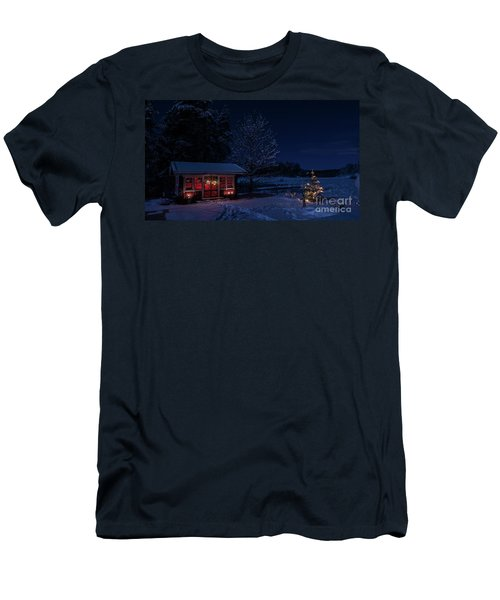 Men's T-Shirt (Slim Fit) featuring the photograph Winter Night by Torbjorn Swenelius