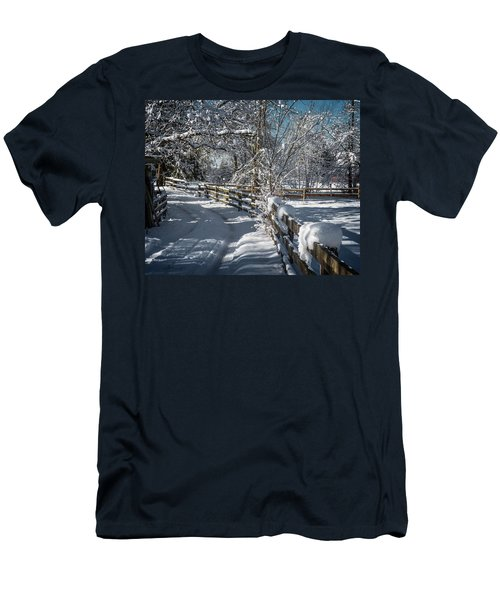 Winter On Ruskin Farm Men's T-Shirt (Athletic Fit)
