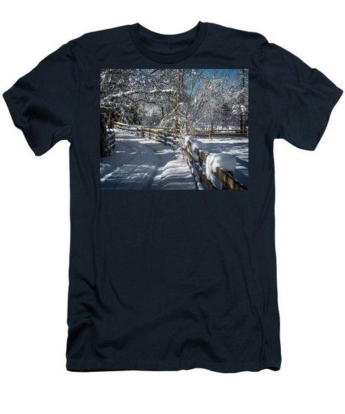 Winter On Ruskin Farm Men's T-Shirt (Athletic Fit)