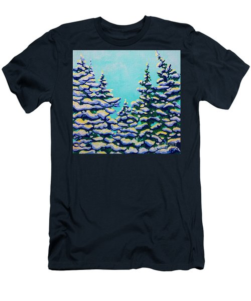 Winter Pines Men's T-Shirt (Athletic Fit)