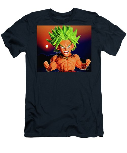 Men's T-Shirt (Athletic Fit) featuring the digital art Sunset Ss Broly by Ray Shiu